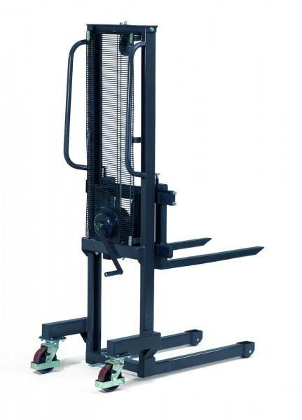 Handwinden-Stapler 250 kg Tragkraft, 800 mm Gabeln