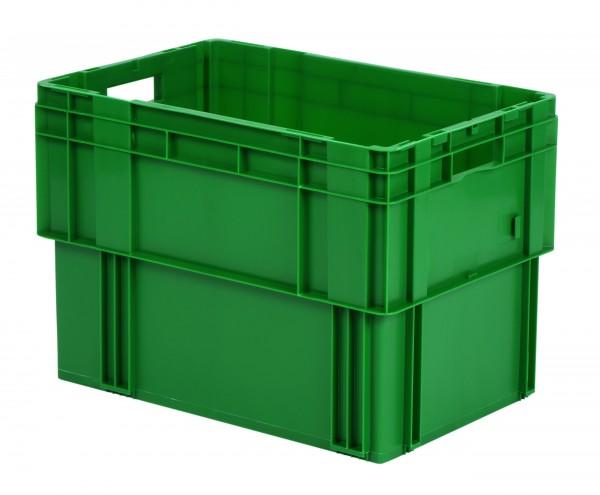 Drehstapelkästen grün DTK 600/420 (PP), Wände und Boden geschlossen, VE = 2 Stück