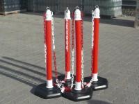 Kettenpfosten Multimax, 4-er Set - rot -