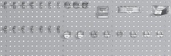 Lochplatte für Werkbänke, Breite 1500 mm