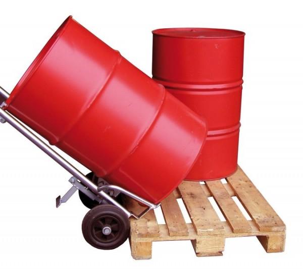 Fasskarre für 200 Liter-Fässer mit Pendelachse, Luft-Bereifung