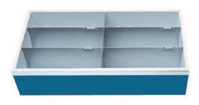 Schubladeneinsatz, Höhe 200 mm, Breite 680 mm