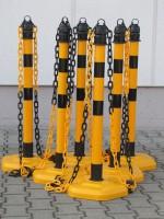 Kettenpfosten Multimax, 6-er Set - gelb/schwarz -