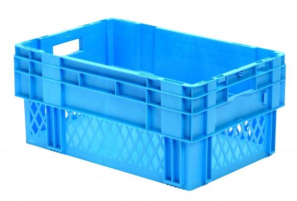 Drehstapelkästen blau DTK 600/270-1 (PP), Wände durchbrochen Boden geschlossen, VE = 2 Stück