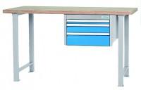 Werkbank mit 3 Schubladen, Breite 1500 mm