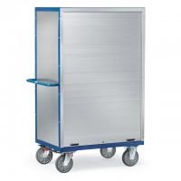 Kastenwagen mit Rollladenverschluss, Alublech, verschließbar 750 kg Tragkraft
