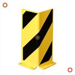 Anfahr-Rammschutz aus Stahl, schwarz-gelb, Höhe 400 mm