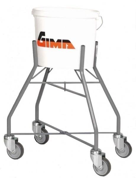 Eimerhalter fahrbar für Farbeimer oder Ovaleimer, 30 Liter, Ø 300x133 mm, Höhe 650 mm, 4 Lenkrollen