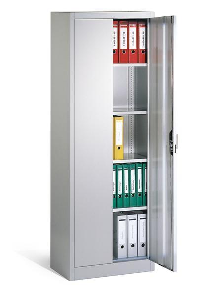 Büro- und Aktenschrank Breite 700 mm 4 Böden, Tiefe 400 mm, Höhe 1950 mm, in 3 Farben