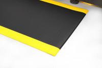 Arbeitsplatzmatte Orthomat® Diamond, schwarz/gelb 600 x 900 mm