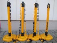 Kettenpfosten Multimax, 4-er Set - gelb -