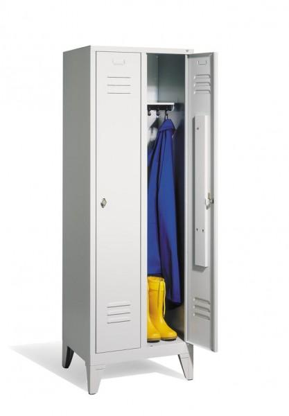 Garderoben- Stahlspinde Breite 610 mm, lichtgrau