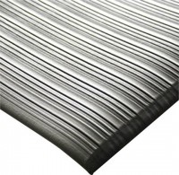 Arbeitsplatzmatte Orthomat® Ribbed, grau 1200 mm x 18,3 Meter