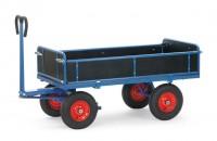 Handpritschenwagen mit Bordwänden, 1000 kg Tragkraft