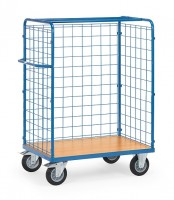 Paketwagen mit Drahtgitterwänden 500 kg Tragkraft