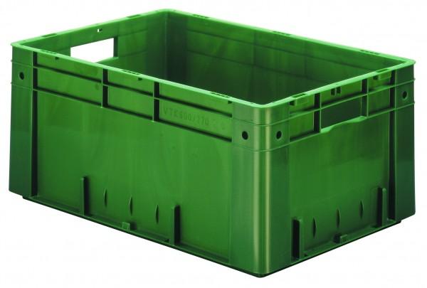 Schwerlast-Stapelkästen grau VTK 600/270 (PP), Wände und Boden geschlossen, VE = 2 Stück