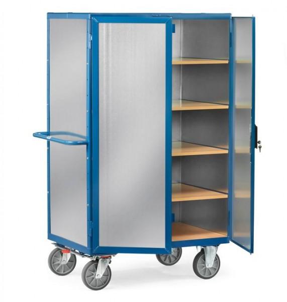 Kastenwagen mit Einlegeböden, verzinktes Stahlblech, verschließbar 750 kg Tragkraft, 2 Größen