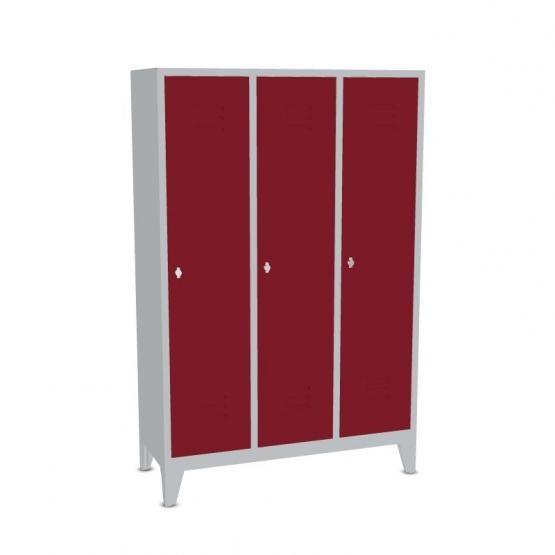 Garderoben- Stahlspinde Breite 900 mm, rubinrot