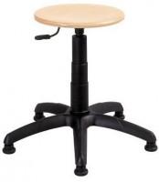 Arbeitshocker mit Holzsitz