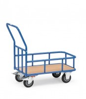 Plattformwagen mit Stahlrohr-Umrandung 400 kg Tragkraft