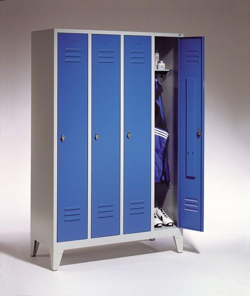 Garderoben- Stahlspinde Breite 1690 mm, 3 Farben