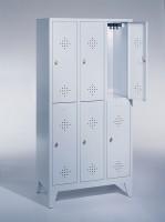 Doppelstöckige Garderobenschränke Breite 920 mm