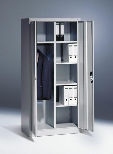 Flügeltürschrank mit Garderobefach und Etagenböden Breite 930 mm