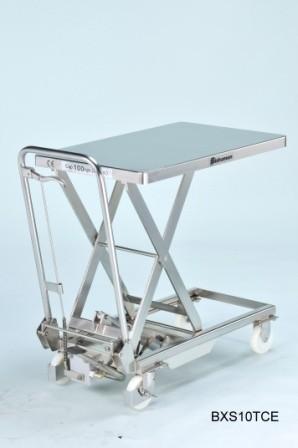 Edelstahl - Hubtisch BISHAMON 100 kg Tragkraft