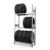 Reifenregal, verzinkt 150 kg Tragkraft pro Boden (Grundregal 41.95902)