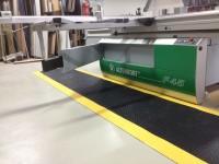 Arbeitsplatzmatte Diamond Deckplate mit gelben Rand, 1.200 mm x lfd. Meter