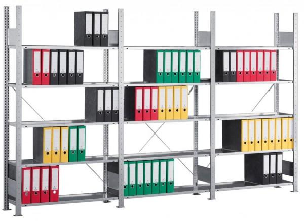 Büroregal, verzinkt, 5-7 Böden, in 3 Höhen,als Grund- und Anbauregal sofort lieferbar