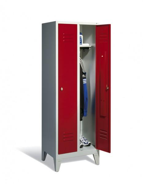 Garderoben- Stahlspinde Breite 610 mm, rubinrot