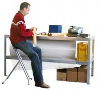 Arbeitstisch & Packtisch, verzinkt  400 kg Tragkraft