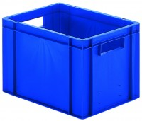 Transport-Stapelkästen aus Polypropylen (PP), Wände und Boden geschlossen (Bestell-Nr. 4.0740022-01)