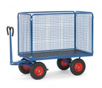 Handpritschenwagen mit Drahtgitterwänden, 1000 kg Tragkraft
