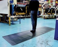 Arbeitsplatzmatte Diamond Deckplate, schwarz, 1200 mm x 18,3 Meter