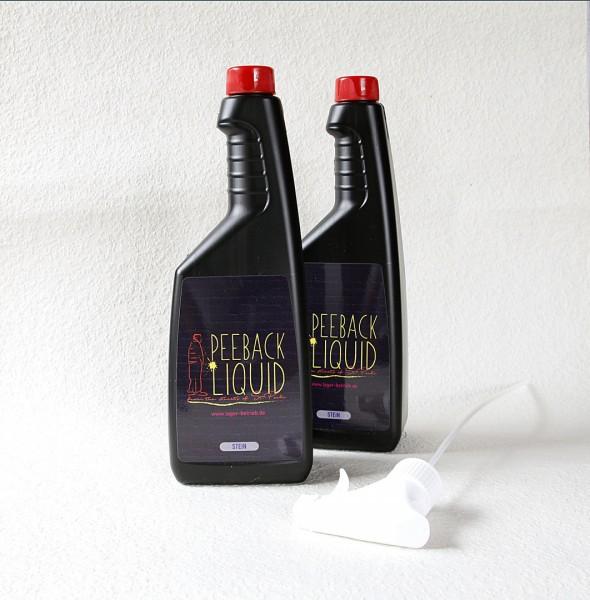 PeeBack Liquid Stein 2x600ml Urin-, Wasser-, Öl- & Regen abweisender Schutz für Stein,AntiPinkelSpra