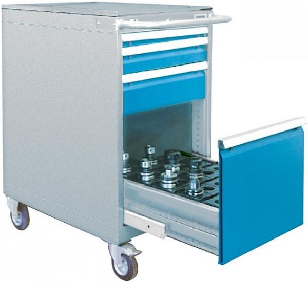 CNC Schubladenschrank fahrbar, 555x736x1005 mm, 4 Schubladen