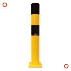 Rammschutz-Poller schwarz-gelb, Typ XL, zum Einbetonieren