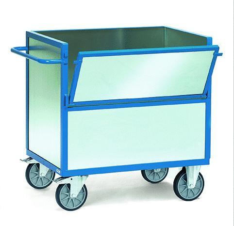 Kastenwagen, verzinktes Blech, 600 kg Tragkraft, 2 Größen