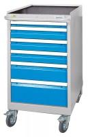 Schubladenschrank - Werkzeugschrank, fahrbar, Breite 555, 6 Schubladen