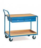 Leichter Tisch- und Werkstattwagen, mit Schubladen 250 kg Tragkraft