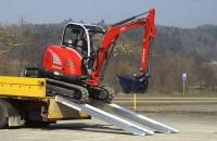 Schwerlastrampen mit Rand, Tragkraft/Paar 2860 kg, Breite 305 mm, Länge 4130 mm