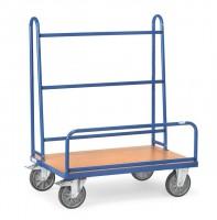 Plattenwagen, Breite 810 mm, Länge 1270 mm, einseitig, 600 kg Tragkraft