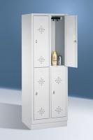 Doppelstöckige Garderobenschränke mit Sockel Breite 610 mm