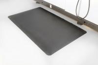 Arbeitsplatzmatte Diamond Deckplate, schwarz, 900 x 3000 mm