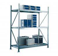 Weitspannregal, verzinkt 600 kg Tragkraft pro Ebene (Komplettregal 41.51236)