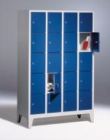 Fächerschränke mit Zylinderschloss Breite 1220 mm 20 Fächer (Bestell.-Nr. 5.8010-405-001)