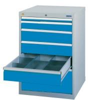 Schubladenschrank - Werkzeugschrank, Breite 705 mm, 6 Schubladen