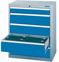 Schubladenschrank - Werkstattschrank, Breite 980 mm, 5 Schubladen